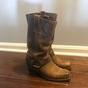 Frye 12R harness boots.